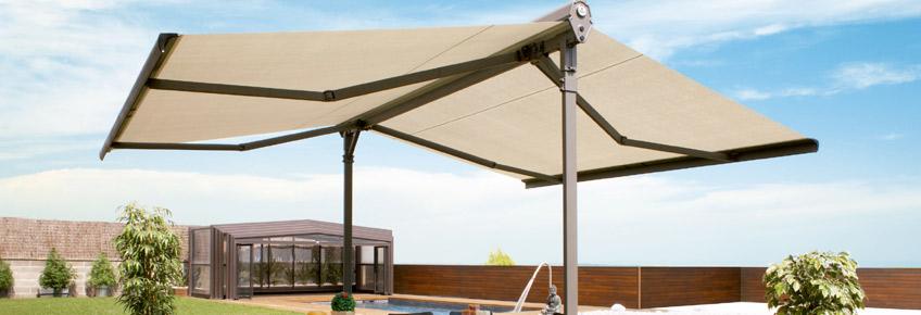 Toldo para terrazas doble duox solstore for Poleas dobles para toldos