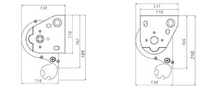 Dimensiones con cofre Toldo Vertical Box