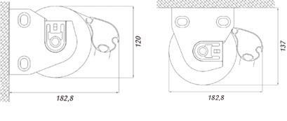 Dimensiones sin Cofre del Toldo Vertical Box
